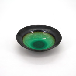 small japanese rice bowl in ceramic, LAGOON green