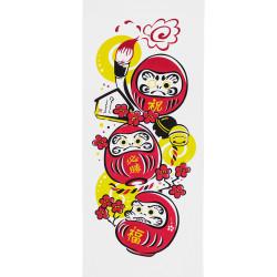 Japanische Baumwolltuch TENUGUI DARUMA, rot