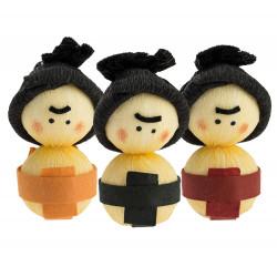 bambola giapponese, fatta di carta - okiagari, SUMO, combattente
