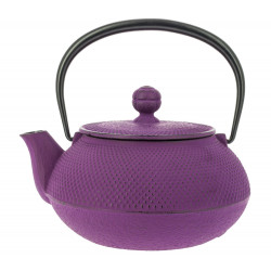 Japanese teapot cast iron, IWACHU ARARE 0,65lt, purple