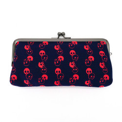 Japanese glasses case 100% cotton, SKULLHEAD