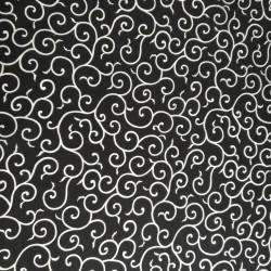 tessuto bianco giapponese, 100% cotone, motivi giapponesi
