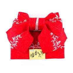 ceinture et noeud traditionnel japonais en polyester, MUSUBI-OBI, motifs au choix