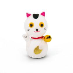 bambola giapponese, fatta di carta - okiagari, MANEKINEKO, gatto bianco