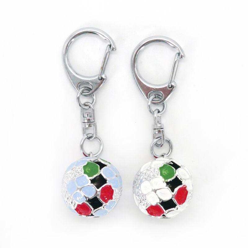 Japanese key ring bell blue or white flower of your choice KIHORUDA
