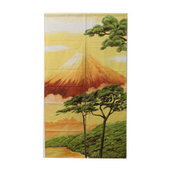 Japanese curtain NOREN red FUJI - Hokusai