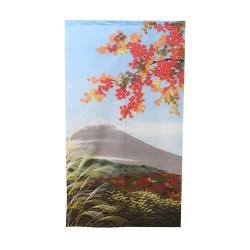 rideau japonais NOREN Paysage mont Fuji et érable