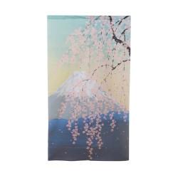 rideau japonais NOREN Paysage mont Fuji et sakura