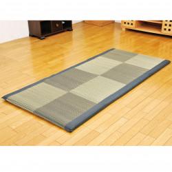 Traditional Japanese rice straw mattress - MATTORESU, black, 90x200cm