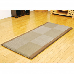Traditional Japanese rice straw mattress - MATTORESU, brown, 90x200cm