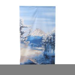 NOREN Cortina japonesa, paisaje del monte Fuji y nieve.