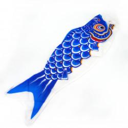 manche à air en forme de carpe koi bleu KOINOBORI