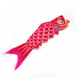 manche à air en forme de carpe koi rouge KOINOBORI