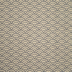 Beige Japanese cotton fabric seigaiha sashiko patterns made in Japan width 112 cm x 1m