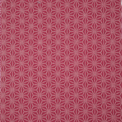 Red Japanese cotton fabric asanoha sashiko patterns made in Japan width 112 cm x 1m