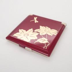 specchietto tascabile rosso, TOMBO, libellula