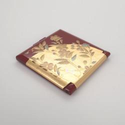 roter Taschenspiegel, SAKURA, Blumen