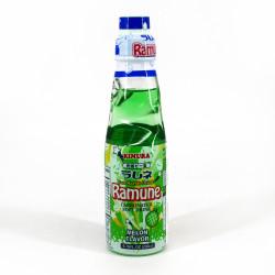 Limonade japonaise Ramune melon - KIMURA GANSO RAMUNE MELON