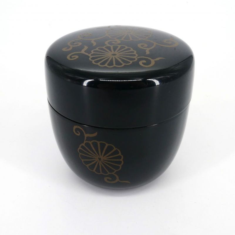 Set of two Natsume boxes in black lacquer