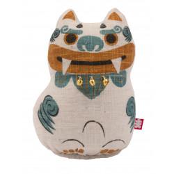 "Hand painted hemp doll, SHISA ""N"", the guardian god of Okinawa"