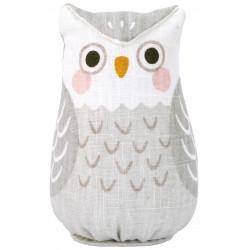 Hand painted hemp doll, SHIRO FUKURO, Lucky Owl