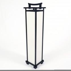 Lámpara de salón japonesa grande SHINDEN, negro
