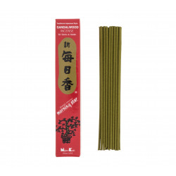 Box 50 Japanese incense sticks, MORNING STAR, sandalwood scent
