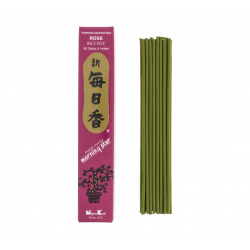 Box of 50 Japanese incense sticks, MORNING STAR, pink scentBox of 50 Japanese incense sticks, MORNING STAR, rose scent