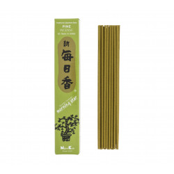 Box of 50 Japanese incense sticks, MORNINGSTAR, pine scent