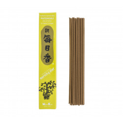 Box of 50 Japanese incense sticks, MORNINGSTAR, patchouli fragrance