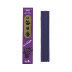 Box of 50 Japanese incense sticks, MORNINGSTAR, musk scent