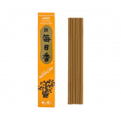 Box 50 sticks of Japanese incense, MORNING STAR, amber fragrance