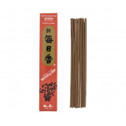 Confezione da 50 bastoncini di incenso giapponese, MORNING STAR MYRRH, profumo di mirra