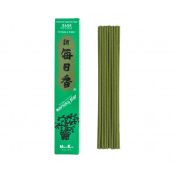 Box of 50 Japanese incense sticks, MORNING STAR SAGE, sage scent