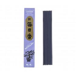 Confezione da 50 bastoncini di incenso giapponese, MORNING STAR LAVENDER, profumo di lavanda