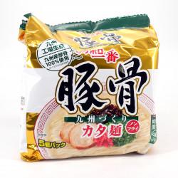 5 sobres de fideos instantáneos con sabor a carne de cerdo, SAPPORO ICHIBAN TONKOTSU