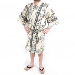 Japanese traditional cotton happi coat kimono TAKE, bamboo, for men