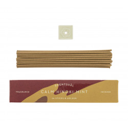 Scatola da 30 bastoncini di incenso con supporto per incenso, SCENTSUAL CALM HINOKI MINT, Hinoki
