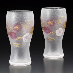 set de 2 verres à bière japonais PREMIUM SAKURASUIMON
