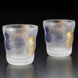 set of 2 Japanese Whiskey glasses PREMIUM MUBYOUTAN