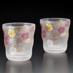 set of 2 Japanese Whiskey glasses PREMIUM SAKURASUIMON