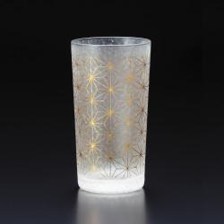 Japanese glass with asanoha pattern - WAKOMON
