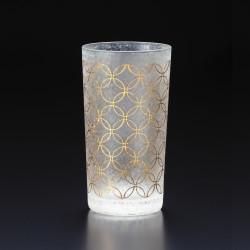 verre droit japonais motif shippou - WAKOMON
