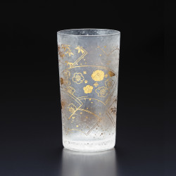 verre droit japonais motif suehiro - WAKOMON