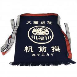 Traditional Japanese cotton apron Daruma, MAEKAKE DARUMA