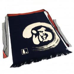 Traditional Japanese cotton apron Sake, MAEKAKE SAKE