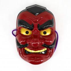 red japanese nô mask yôkai TENGU