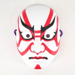 Maschera giapponese per gatti rossi e bianchi