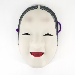 white japanese nô mask sophisticated woman ZOHONNA