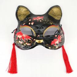 Maschera giapponese per gatti neri e rossi - NEKOMASUKU